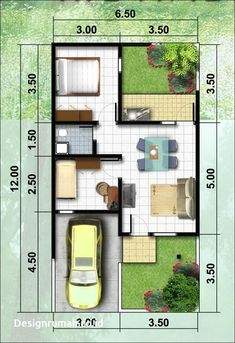 Home Design Drawings Informasi Desain Rumah Cluster 2 Lantai prosforjda 3d House Plans, Small House Floor Plans, Model House Plan, House Layout Plans, Duplex House Plans, House Layouts, Container House Design, Small House Design, House Construction Plan