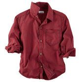 This red plaid is a classic for the upcoming season. Pair it with green cords to keep him festive!<br>