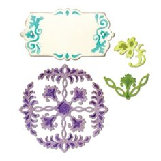Sizzix Thinlits Die Set 4PK - Ornate Flowers & Tag £14.99