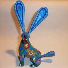 Blue Rabbit Oaxacan Woodcarving Alebrijes Folkart from Zeny Fuentes and Reyna on Etsy, $59.00
