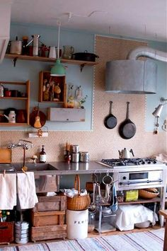 Cozy Bohemian Kitchen Design Ideas For Your Kitchen - Beautiful japanese kitchen ideas - Farmhouse Style Kitchen, Modern Farmhouse Kitchens, Rustic Kitchen, Home Kitchens, Kitchen Ideas, Rustic Farmhouse, Bohemian Kitchen Decor, Western Kitchen, Vintage Kitchen