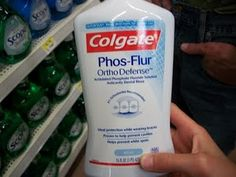 Mouthwash specifically meant for those with braces.