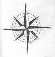 Compass Outline | Compass Star for Next Tattoo 6 years ago in Tattoo Design