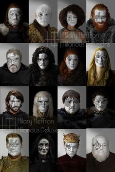Set Three | Game of Thrones War Paint by Hilary Heffron - Hilarious Delusions FB