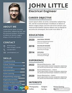 Free Electrical Engineer Fresher Resume Template If you like this cv template. Check others on my CV template board :) Thanks for sharing! Creative Cv Template, Sample Resume Templates, Resume Design Template, Resume Template Free, Free Resume, Resume Cv, Free Professional Resume Template, Cv Templates Free Download, Microsoft Word Resume Template