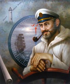 Saint Simons Island Sea Captain 1 Painting