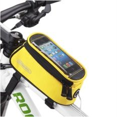 Black Shop Bicycles Touch Screen Mobile Phone Riding Bicycle Equipment Tube Package Products Lemon Yellow S - Intl