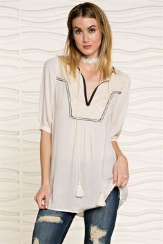 aaff6529d35bf Gauze Tunic With Patch Front – Thistle   Finn