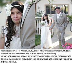 Good Dad... Niña que concede a su padre la oportunidad de verla vestida de novia, ya que éste estaba desahuciado por un cáncer terminal.