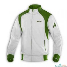 White and Green Fitness Jacket