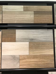 Don't be afraid to mix your #WoodLookPorcelain colors! Here we show all five colors of our popular #Aequa series. Mix 2 or more colors for a realistic reclaimed look! https://arizonatile.com/en/products/porcelain-and-ceramic/aequa
