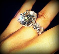 Glamourous Diamond Wedding Ring. Way too over the top for me but still absolutely stunning! www.LIVETHEGLAMOUROUSLIFE.COM