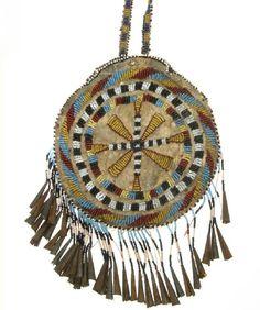 Mid 1800s medicine pouch, Plains People