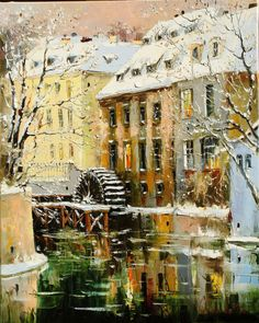Kampa.Prague. 80x65 oil on canvas 2008
