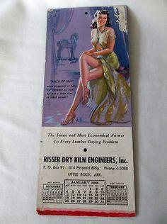 Vintage 1947-1948 pin-up girl calendar -- Helen of Troy