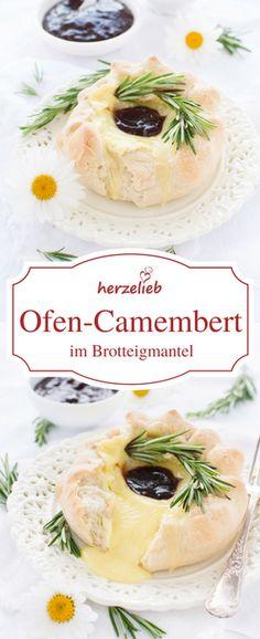 Camembert im Brotteigmantel oder in der Brotkruste sind das kleine Käsefondue für Zuhause. Einfaches und leichtes Rezept von herzelieb. Käse auf die beste Art!
