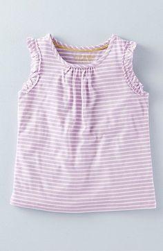 Mini Boden 'Pretty' Ruffle Trim Tank (Toddler Girls, Little Girls & Big Girls)