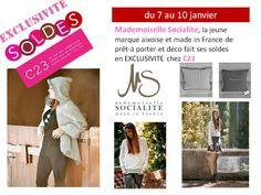 Mademoiselle Socialite chez C23 pour les soldes