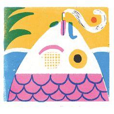 irene rinaldi - Salifornia poster Irene, Jacky Winter, Learning Goals, Poster On, Behance, Kids Rugs, Illustration, Prints, Painting