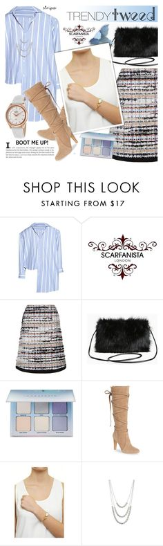 """""""trendy tweed.faux fur bag - Scarfanista London 20"""" by cly88 ❤ liked on Polyvore featuring Vetements, Oscar de la Renta, Torrid, Anastasia Beverly Hills, Vince Camuto, DesignSix and Rotary"""