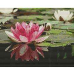 Lotus Flower Pool, a pattern for looms or peyote | GGsDesigns - Patterns on ArtFire