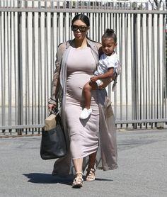 Kim Kardashian Takes North To A Birthday Party
