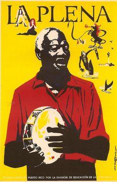 Cartel La plena, de Rafael Tufiño (1967)
