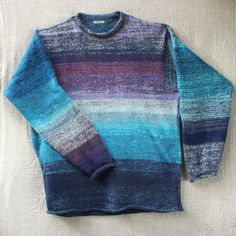 Blue Lagoon Knit Sweater  M Mens L Womens knit by WrapturebyInese, $175.00