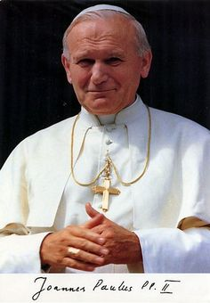 22 oktober: H. Johannes Paulus II (1920-2005), paus van de meeste heiligverklaringen en reizen. Catholic Prayers, Catholic Saints, Roman Catholic, Papa Juan Pablo Ii, Catholic Pictures, Religion, Vintage Holy Cards, Bride Of Christ, Pope John Paul Ii