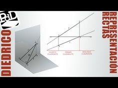 Representación de rectas en sistema diédrico.