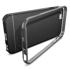 Spigen Neo Hybrid iPhone Plus Case with Flexible Inner Protection and Reinforced Hard Bumper Frame for iPhone Plus / iPhone 6 Plus - Gunmetal Apple Iphone, Coque Iphone 6, Smartphone, 6s Plus Case, Cover, Cell Phone Accessories, Bags, Form, Design