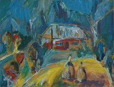 Evening in the village - Tetyana Snezhyk painting