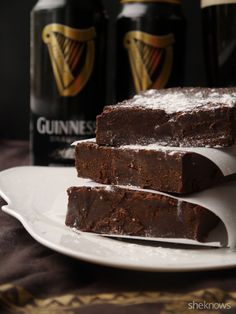 Fudgy Guinness brownies are the ultimate St. Paddy's Day dessert