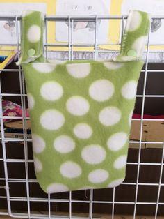 Hay bag, Guinea pig hay bag, guinea pig fleece, hay holder, fleece cage accessories, hay holder, food holder, C&C cage by CreatedbyLauraB on Etsy