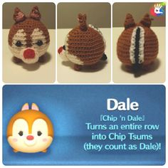 Tsum Tsum Chipmunks Chip and Dale Pattern by uDezignCrafts on Etsy