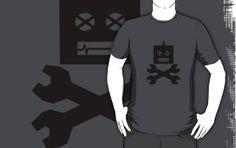 Robot, warning, wrenchs, nerd, geek, I.T., tools