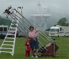 The perfect Dobsonian family portrait.  #Astronomy #Telescopes #Dobsonian