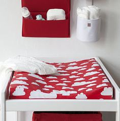 Red cloud theme for baby's' room