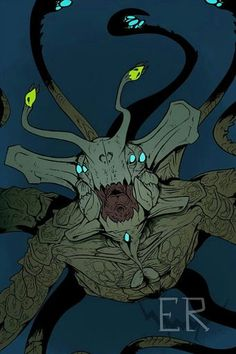 """Some Subnautica fanart of the Sea Emperor because he my bae"""" Curious Creatures, Alien Creatures, Prehistoric Creatures, Fantasy Creatures, Mythical Creatures, Subnautica Concept Art, Creature Concept Art, Spooky Tattoos, Historia Natural"""