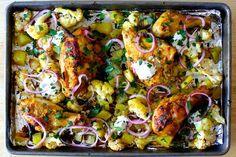 Sheet tray chicken tikka