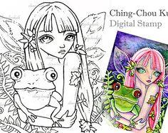 Fantasía arte por Ching-Chou Kuik / azul ilusión por gjzcck