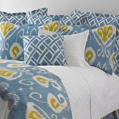 Ikat live without this: Bansuri Blue Washed Linen Bedding
