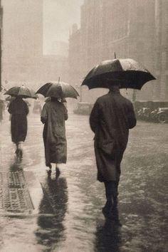 April showers, (circa 1935) by Charles E Wakeford :: The Collection :: Art Gallery NSW