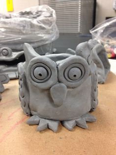 grade pinchpot creation: owl pot my students clay projects!