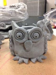 5th Grade Pinchpot Creation: Owl Pot