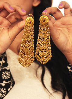Beautiful Gold Earrings #gold #earrings #jewellery #wedmegood