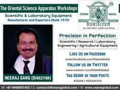 The Oriental Science Apparatus Workshops - OSAW India