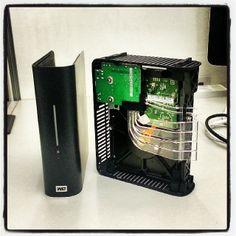 The inside of a Western Digital External hard drive. Thought some of you might find it interesting. #westerndigital #coolstuff #veterangeek
