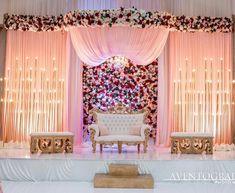 Throwback to Ashnoor & Raja's reception decor 💫 Wedding Backdrop Design, Desi Wedding Decor, Wedding Hall Decorations, Wedding Stage Design, Luxury Wedding Decor, Wedding Reception Backdrop, Marriage Decoration, Wedding Mandap, Backdrop Decorations