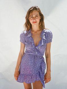 realisation par - valentina dress in purple haze (size xs) ($180)